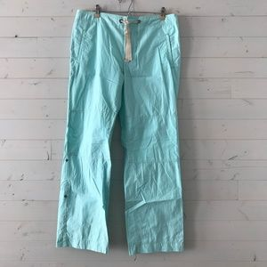 Gap Teal Pants Button-Up to Capri